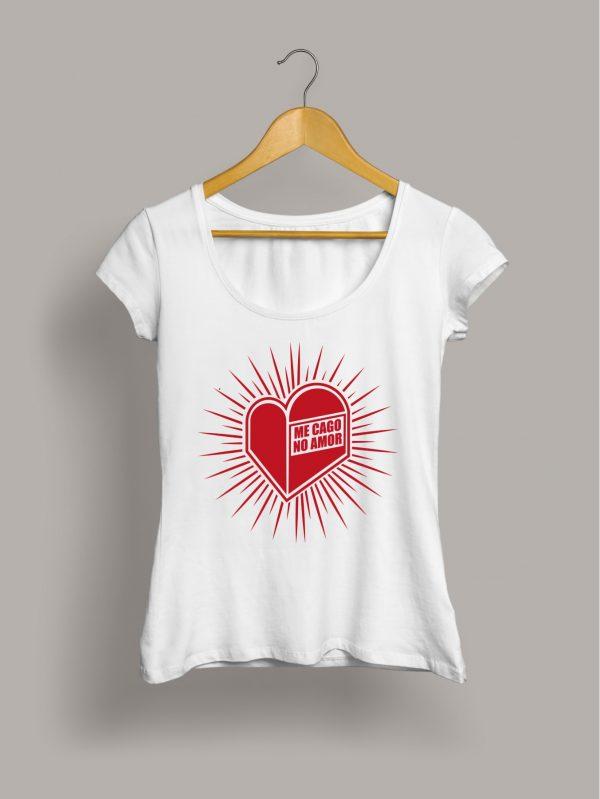 Me cago no amor camiseta chica