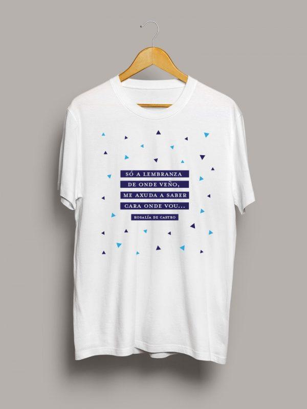 Camiseta chico so a lembranza Rosalía de Castro Letras Galegas 2020
